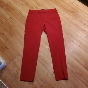 Red Straight Leg Dress Pant